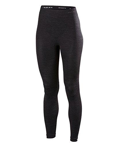 FALKE Damen Unterwäsche Wool Tech Long Tights, Black, L