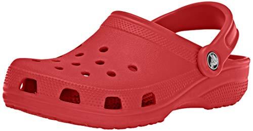 Crocs Classic Clog, Zuecos Unisex Adulto, Rojo Pepper 6EN, 41/42 EU