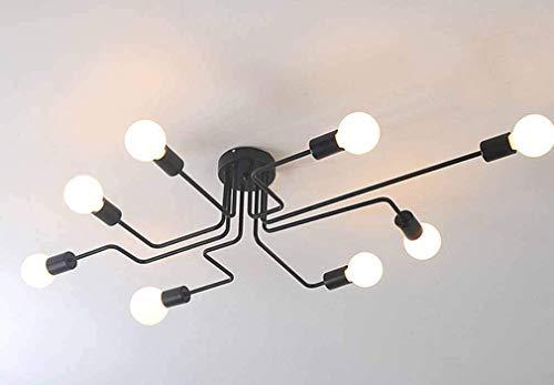 Plafoniere Moderne Grandi : Lampadario in ferro battuto moderno con due luci grandi sconti