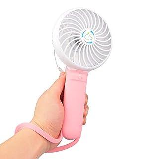 Breeze DMM Mini Ventilateur Homgeek 3 en 1 Mini USB Portable Multifonction Fans avec 3 Niveau Vitesse De Ventilation Réglable Ventilateur De Poche Stick Selfies pour L'Extérieur,Pink