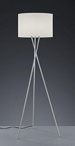 Khl LED Stehlampe Standleuchte Prag Stoffschirm Dreifuß weiß 7W E27 KH40031001