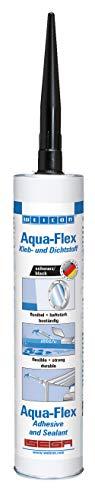 Weicon 13701310 Aqua-Flex 310ml schwarz wasserfester elastischer Klebstoff zum Abdichten