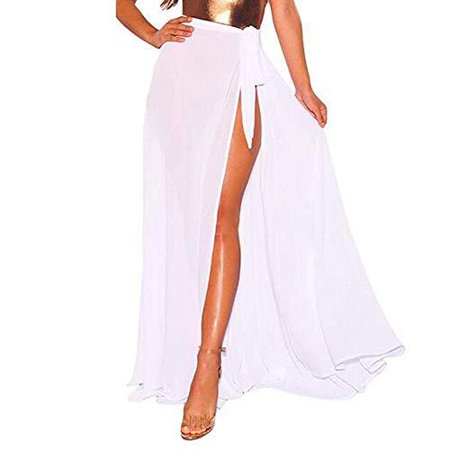 Bfmyxgs Sexy Bademode für Frauen Lady Strand Multifunktions solide vertuschen Sarong Badeanzug Vertuschung Kittel Kleid Bodys Beachwear Bademode Monokini Bikini Tankini Sets Bade ()