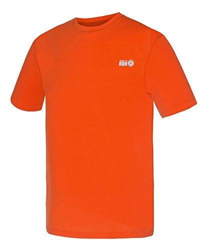Favourite Lauf-Jogging-Shirt mit kurzen Ärmeln, Oberteil für Herren Orange