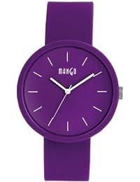 Mango A68356PU10I - Reloj unisex, correa de silicona color morado