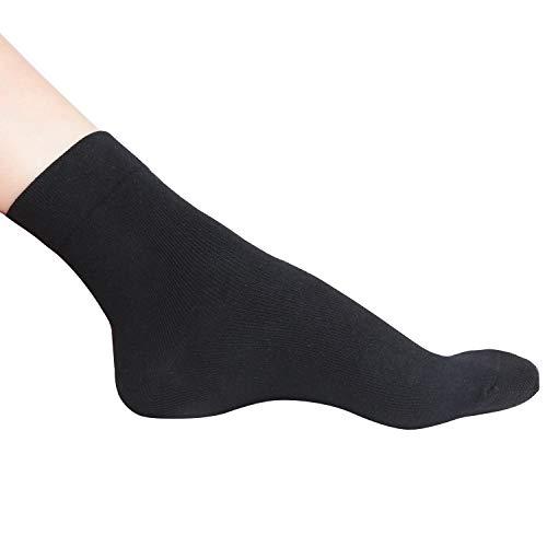 +MD Feuchtigkeitsspendende Socken Fußpflegesocken mit Spa-Qualitätsbehandlung für trockene, rissige Füße, Knöchel, Ferse und harte, rauhe Haut Schwarz EU39-42 -
