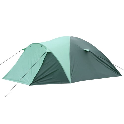 CampFeuer - Kuppelzelt Iglu-Zelt mit Vorbau für 4 Personen, grün / mintgrün, 5000 mm Wassersäule