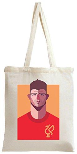 Steven Gerrard Funny Illustration Tote Bag (Liverpool Gerrard-player)