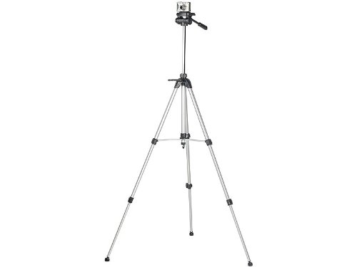 somikon Profi-Alu-Stativ für Photo-und Videokameras bis 157 cm hoch
