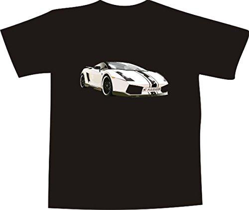 Black Dragon - T-Shirt E1039 - schwarz - Größe S - Logo/Grafik - Comic Design - schöner Sportwagen Lamborghini Murcielago - Funshirt Mann Frau Party Fasching Geschenk Arbeit - bedruckt - Lamborghini-shirt