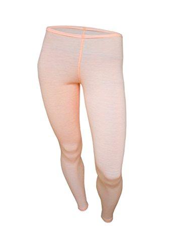UTENOS Weiche Leggings für Damen aus 100% Merinowolle Rosa