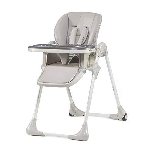 Kinderkraft YUMMY Chaise Haute Enfant Pliable, Réglable, Nettoyage facile, Gris