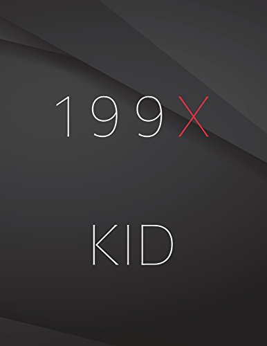 199X kid.: Composition Notebook for Jottings Drawings Black Background White Text Design - Large 8.5 x 11 inches - 110 Pages notebooks and journals, for Minimal Design, Sketching