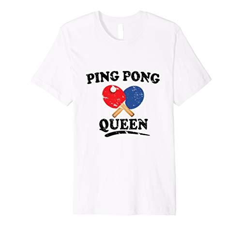Ping Pong Queen T-Shirt | Funny Tischtennis Paddel Tee