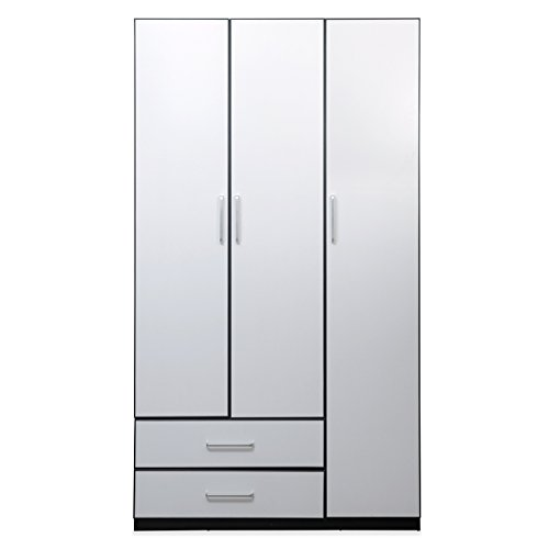 @home by Nilkamal Aston 3-Door Wardrobe (White)  available at amazon for Rs.15900