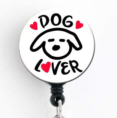 Extra Spulen (Hunde-Liebhaber, einziehbare Spule mit Drehklammer und extra langer 86,4 cm langer Schnur, Ausweishalter/Tierliebhaber/Tierarzt Tech)