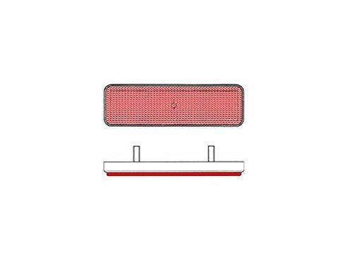 Reflector cuadrado trasero rojo
