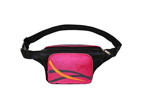Kangqi Sport Multifunktions Outdoor Sports Hüfttasche Lauf Radfahren Klettern Gürteltasche (Schwarz) (Farbe : Red, Größe : 32x14x10cm)