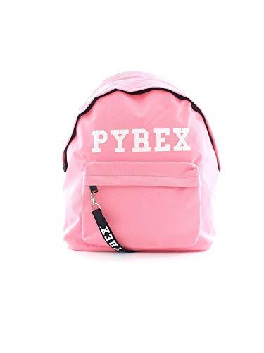 Pyrex zaino in nylon rosa logato - rosa