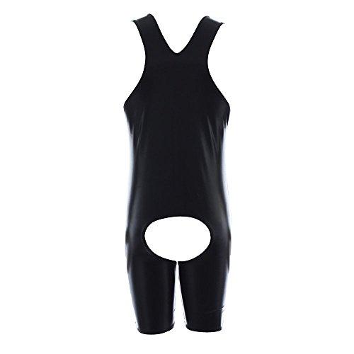 Preisvergleich Produktbild Mangotree Herren Kunstleder Gothic Fetisch Catsuit Mankini Männer Bodysuit Badehose Kostüm