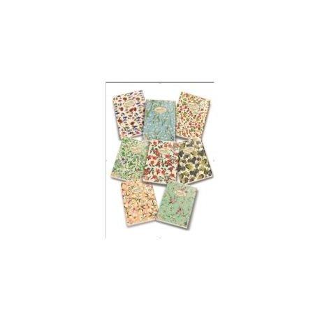 Pigna nature flowers 02088360c, quaderno formato a4, rigatura 0c, righe per 4° e 5° elementare, carta riciclata 80g/mq, pacco da 10 pezzi