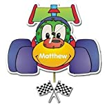Childrens Personalised Racing Car Pendulum Wall Clock