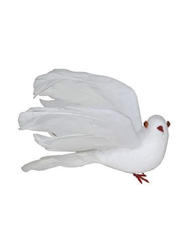 Party Palast - täuschend echt aussehende Taube, 15cm, Halloween Dekoration Deko, ideal für Jede Halloween Party / Feier, Weiß