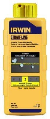 IRWIN Tools STRAIT-LINE 64903 High-Visibility Marking Chalk, 8-ounce, Yellow (64903) by Irwin Tools - Irwin Strait-line Marking Chalk