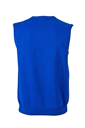 James & Nicholson Herren V-Neck Pullunder Blau (Royal)