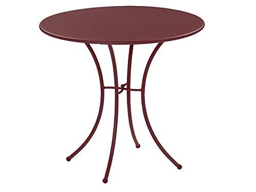 Pigalle Table ronde Ø cm. 80 Emu Item.906 Couleur Marron d'Inde Cod.41