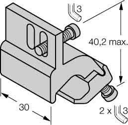 Turck Montagezubehör KLI5 f.Profilzylinder Zubehör für Positionsschalter 4047101114645