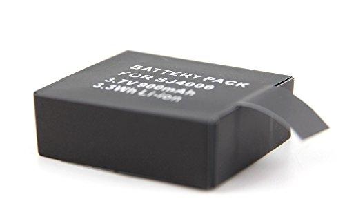 DURAGADGET Wiederaufladbare Batterie (Li-ion 900mAH 3,7 V 3,3 Wh) für die ODRVM WiFi Wasserdichte Kamera 2.0 Zoll LCD HD 1080P Helmet Camera/WiFi Unterwasserkamera Wasserdichte 30M HD 1080P