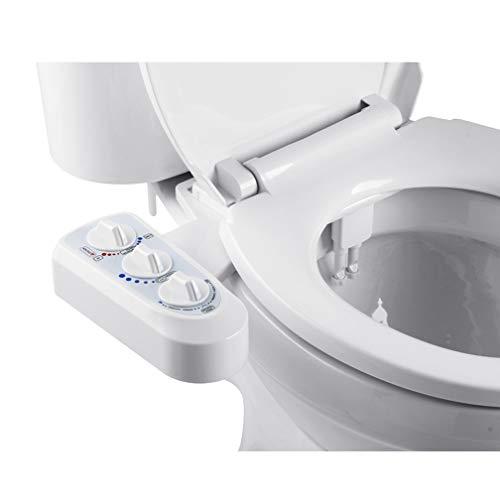 WAOBE Inodoro Asiento Bidé Rociador, Inteligente No Eléctricos Limpiador Fácil De Instalar con Agua Fría Y Caliente para El Cuidado De Higiene Personal, Sanitización, Respetuoso del Medio Ambiente