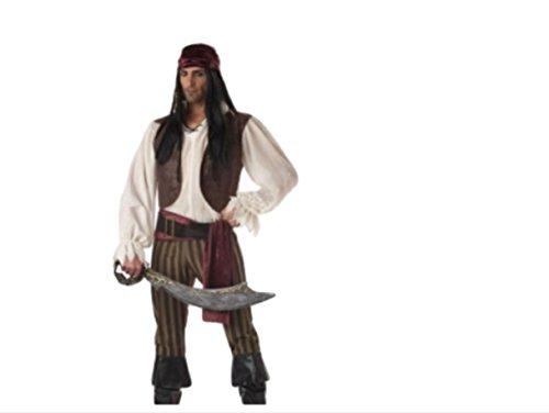 harrowandsmith Sexy Herren Piraten der Karibik Jack Sparrow Kostüm hslb2315, (Sparrow Kostüme)