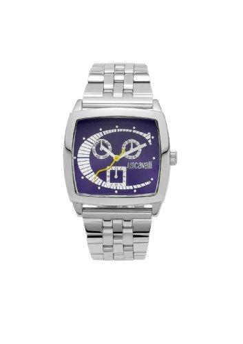 Just Cavalli R7253915015 - Reloj para hombres, correa de acero inoxidable color plateado