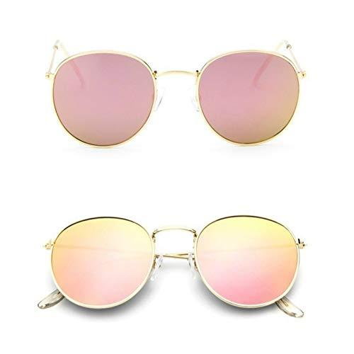 AAMOUSE Sonnenbrillen Red Bean Classic runde Sonnenbrille Damen Herren Designer Sonnenbrille für Frauen Spiegel Sonnenbrille Ray weiblich