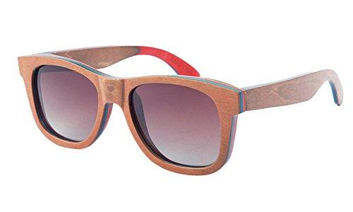 Insun Herren Sonnenbrille Gr. Einheitsgröße, Rot - C7 Black Frame