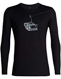 Icebreaker Tech Lite LS Crewe Camper Lift Camiseta, Negro, XX-Large