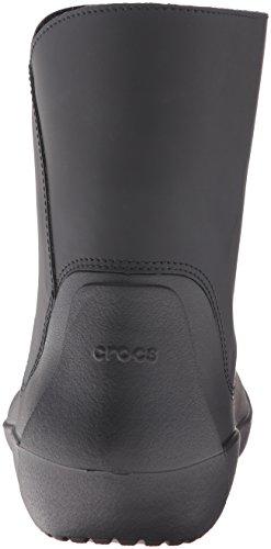 Crocs - RainFloe Bootie, Stivali bassi non imbottiti Donna Nero (Black)