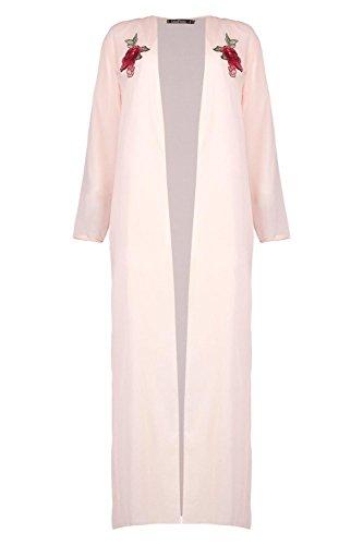 Damen Nackt Milly Bestickter Maxi-kimono Nackt