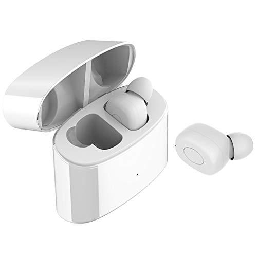 Nourich Mini Twins Bluetooth Kopfhörer Mini In-Ear Ohrhörer Kabellos Stereo Sport-Kopfhörer Funk-Kopfhörer mit Ladebox und Mikrofon für iOS und Android