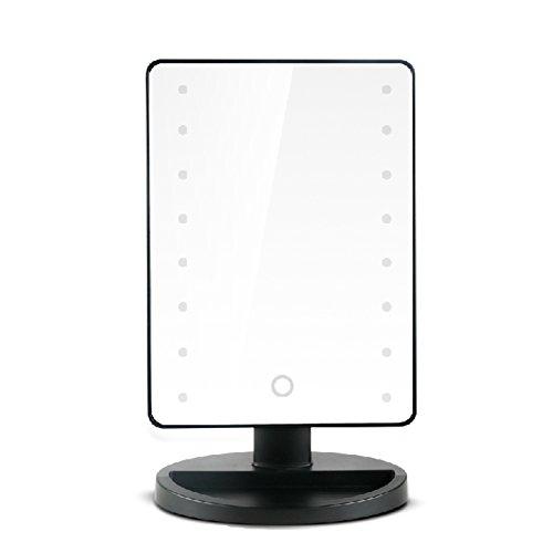 Belle Nero Specchio Cosmetico 16pcs LED Luce