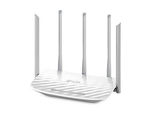 TP-Link Routeur 1350 Mbps Wi-FI Bi-Bande: 450 Mbps en 2.4 Ghz, 867 Mbps en 5 Ghz, 5 Ports Fast Ethernet (Archer C60)