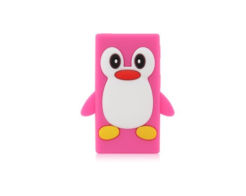 BONAMART ® Cute Pinguin Penguin Soft Gel Silikon Tasche Case Cover Hülle iPod Nano 7 7G 7th Gen Pfirsich