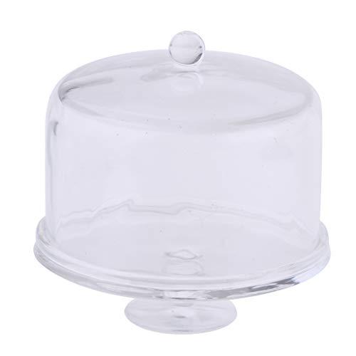 Homyl 1/12 Puppenhaus Miniatur Acryl Kuchenglocke Käseglocke Tortenplatte mit Deckel - # 1