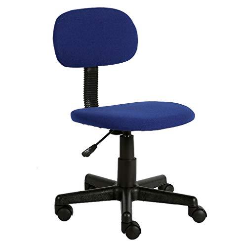Executive Computer Büro Stuhl (Büro Computer Stuhl Ergonomische Aufgabe Home Swivel Rezeption Executive Wohnzimmer Schlafzimmer Schreibtisch Textil Leinen Gepolstert, Höhenverstellbar: 39~50cm, Blau)