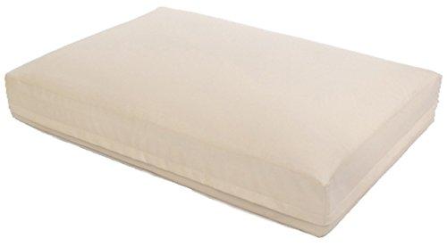 Orthopädisches Wasserbett | 80x60x15cm, Bett Aqua Style - Schaumstoff - Kunstleder - atmungsaktiv antibakteriell & antiallergisch | Hellbeige + Heizung