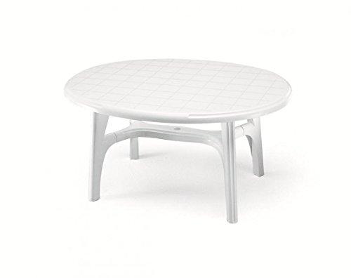 Ideapiu Tisch für Außen aus Kunststoff Oval Weiß