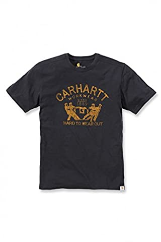 Carhartt .102097.001.S005 Maddock Hard To Wear Out Graphic T-Shirt, Medium, Black