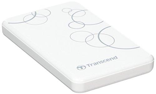 Transcend Storejet A3 Externe Festplatte 1TB (6,4 cm (2,5 Zoll), 5400rpm, USB 3.0) weiss (Elite Externe Festplatte)